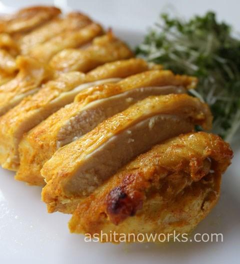 鶏むね肉のタンドリーチキン