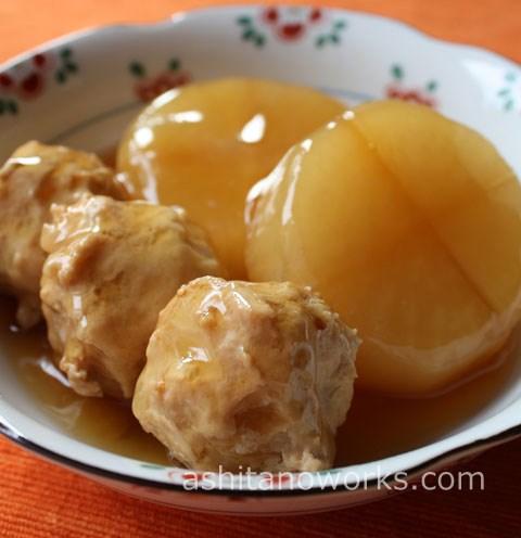 鶏団子と大根のトロっと煮